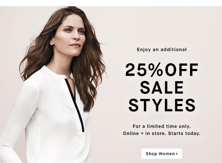 Enjoy an additional 25% OFF SALE - Shop Women