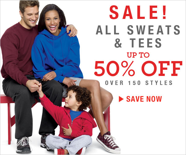 Shop and get up to 50% off on 150+ Sweats & Tees