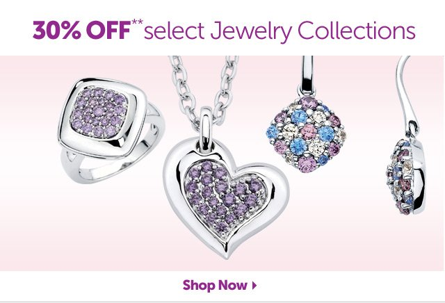 30% OFF** select Jewelry Collections - Shop Now