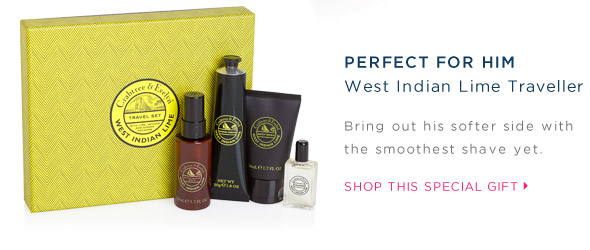 Perfect for him. West Indian Lime Traveller. Shop this special gift.