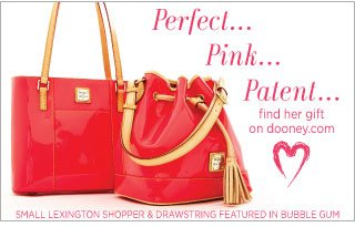 Perfect... Pink... Patent... find her gift on dooney.com. Small Lexington Shopper & Drawstring Featured in Bubble Gum.