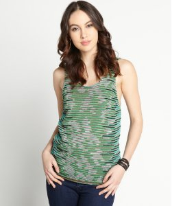 Green And Pink Knit Tank