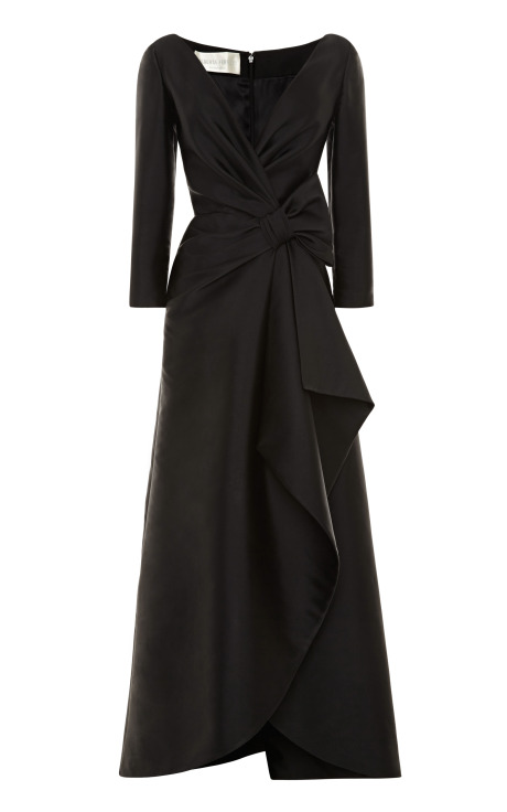 Alberta Ferretti Duchess Satin Gown