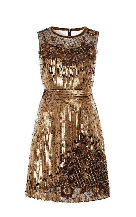 Alberta Ferretti Embroidered Tulle Dress