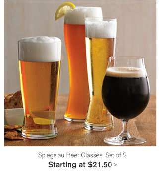 Spiegelau Beer Glasses, Set of 2 - Starting at $21.50