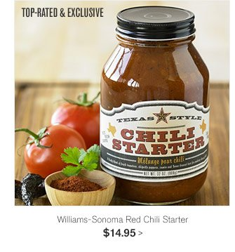 TOP-RATED & EXCLUSIVE - Williams-Sonoma Red Chili Starter, $14.95