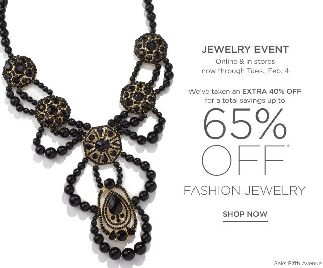 Up to 65% off Fashion Jewelry