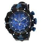 Invicta 14417 Men's Jason Taylor Venom Blue Dial Rubber Strap Chronograph Dive Watch