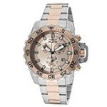 Invicta 13627 Men's Specialty Pro Diver Rose Gold Dial Two Tone Bracelet Chronograph Watch