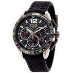 Pulsar PU2021 Men's Chronograph Black Dial Black Rubber Strap Quartz Watch