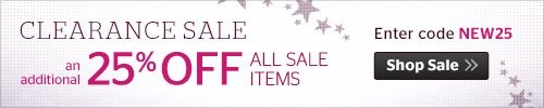 An Additional 25% Off Sale Items