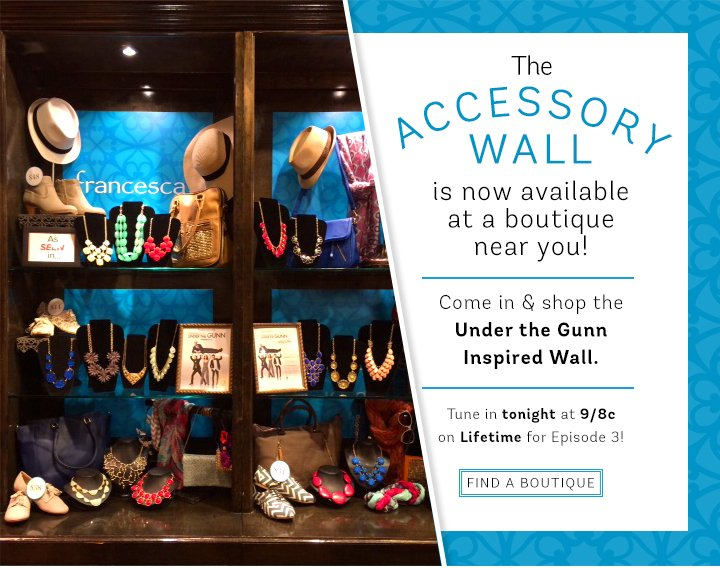 Find the closest boutique to you and shop the francesca's Accessory Wall!