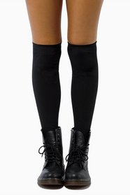 Biker Zipper Thigh High Socks 23
