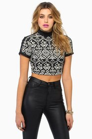 Name That Tribal Crop Top 35