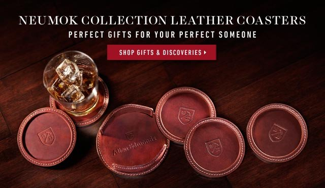 Neumok Collection Leather Coasters: Perfect gifts for your perfect someone. Shop now >