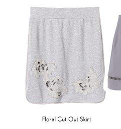 Floral Cutout Skirt