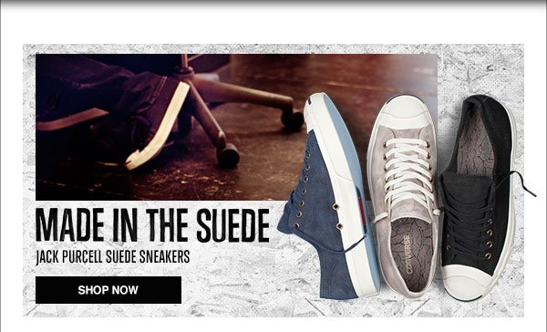Made In The Suede - Jack Purcell Suede Sneakers