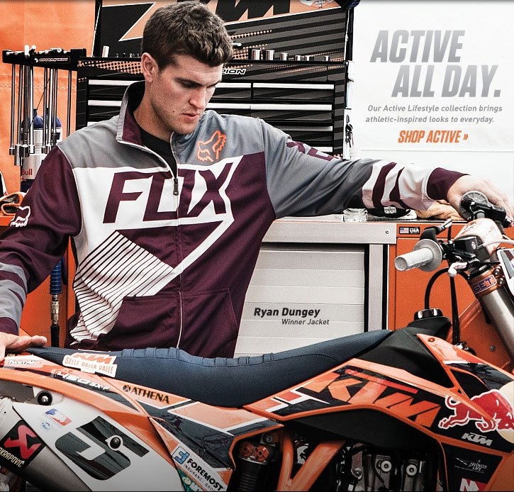 Active All Day. Ryan Dungey in the Winner Jacket