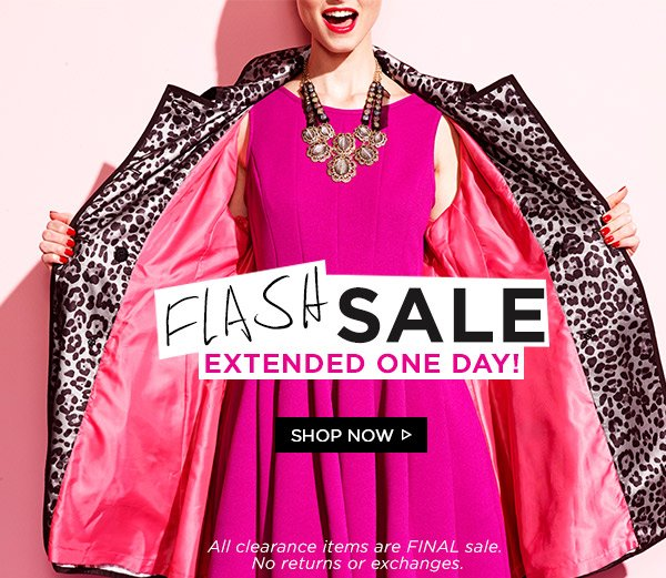 Flash Sale! Extended One Day! Shop Now