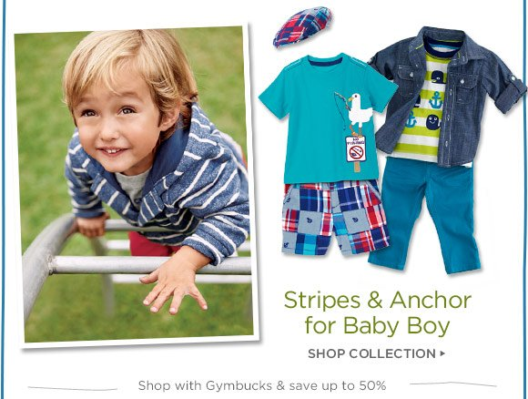 Stripes & Anchor for Baby Boy. Shop Collection. Shop with Gymbucks & save up to 50%.