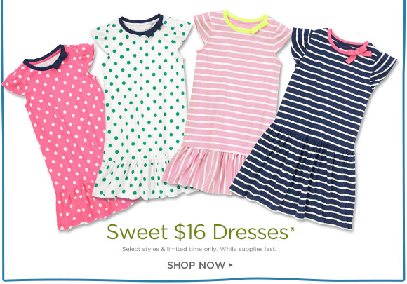 Sweet $16 Dresses(3). Select styles & limited time only. While supplies last. Shop Now