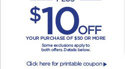 $10 Off Bonus Coupon