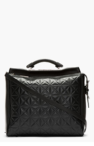 3.1 PHILLIP LIM Black Leather Grid Ryder Satchel for women