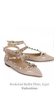 Rockstud Ballet Flats, £550 Valentino