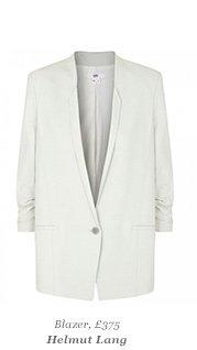 Blazer, £375 Helmut Lang