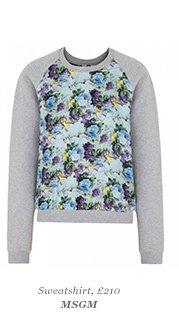 Sweatshirt, £210 MSGM