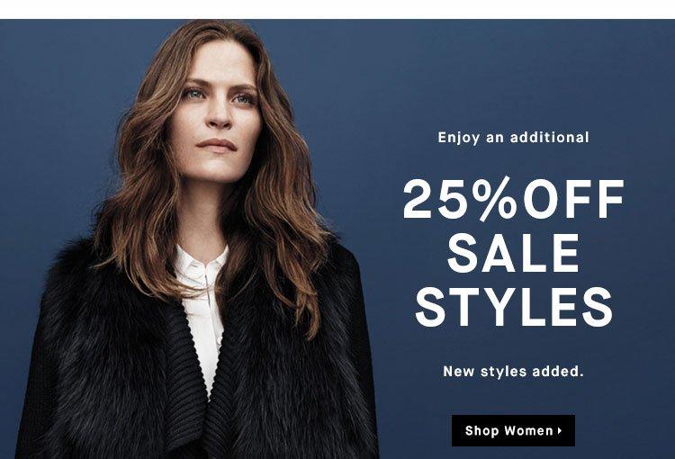 Enjoy an additional 25% OFF SALE STYLES - Shop Women