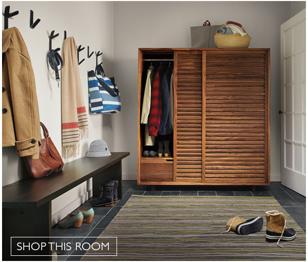 Entryway with Moro Anywhere Armoire