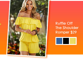 Ruffle Off The Shoulder Romper