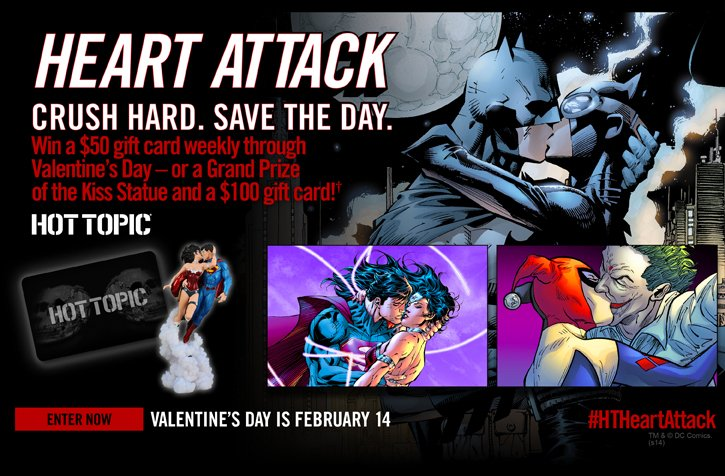 HEART ATTACK. CRUSH HARD. SAVE THE DAY - ENTER NOW