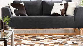 Naturals: Cowhide & Leather Rugs