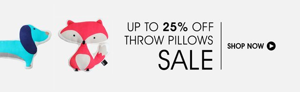 Shop Up To 25% Off Throw Pillows Sale