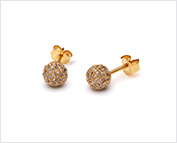 Gold plated diamond studs