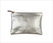 exclusive silver clutch with monogramming