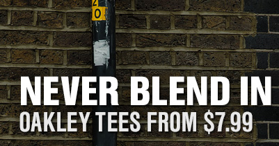 NEVER BLEND IN OAKLEY TEES FROM $7.99