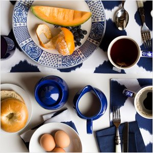 The Blue & White Table: Flatware, Linens, & More