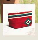 Red Tribal Wool Clutch