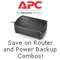 apc - router and power backup combos