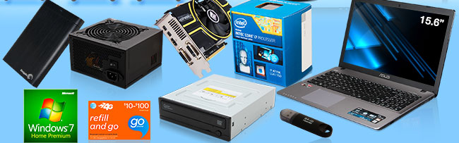 hdd retail, gift card, flash memory, notebook, software