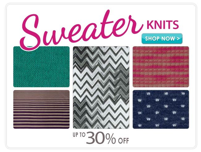 Up to 30% off Sweater Knits