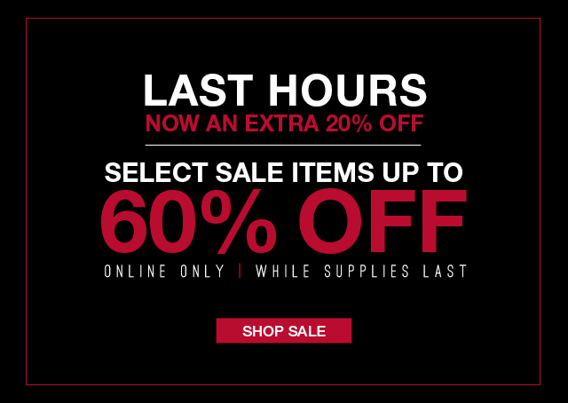 Last Hours - Now an Extra 20% Off - Shop Sale Now