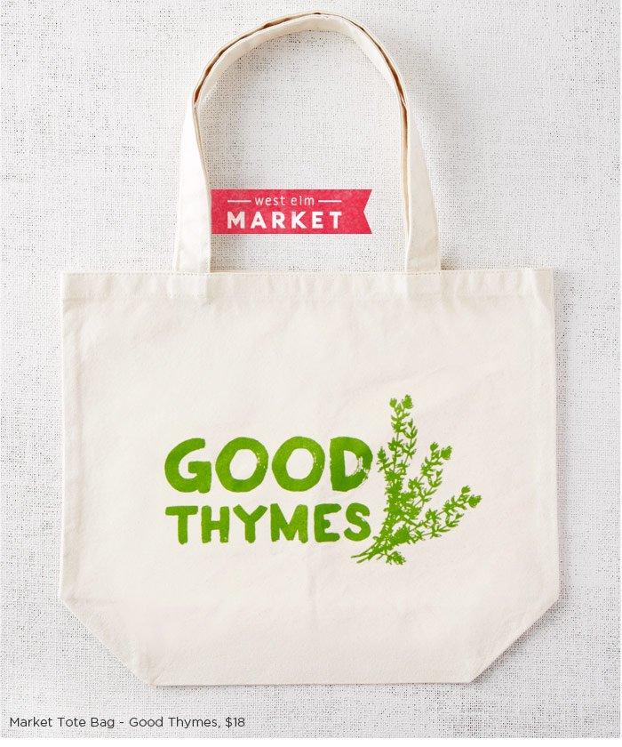 Market Tote Bag - Good Thymes
