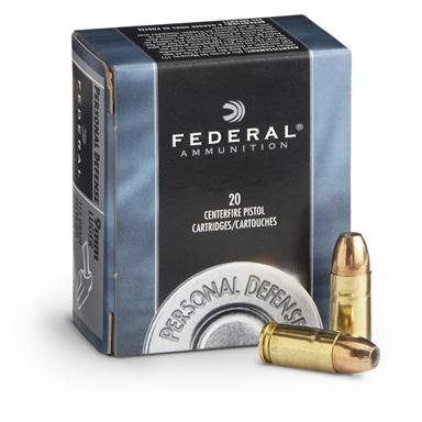 Federal® Personal Defense 9mm Luger 115 Grain JHP, 20 Rounds