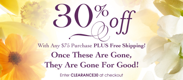 Enter Clearance30 at checkout