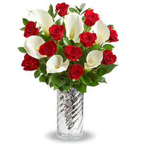 Red Rose and Calla Lily Bouquet Shop Now