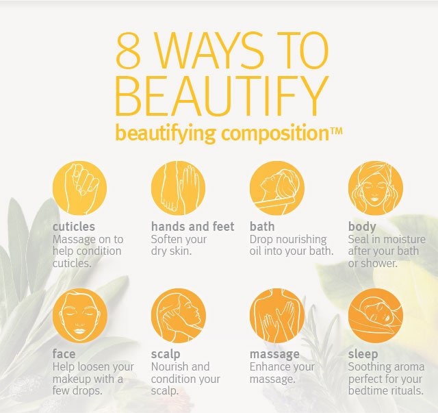8 ways to beautify. beautifying composition.